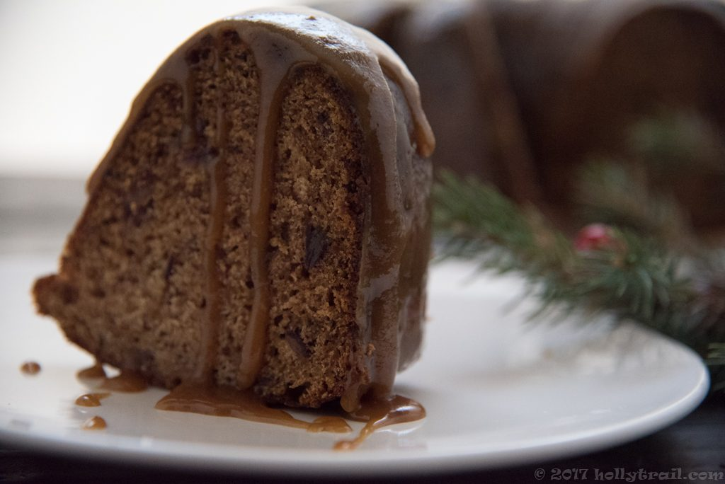 British Christmas Cake.Sticky Toffee Bundt Pudding